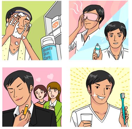 男性化粧品LP用イラスト