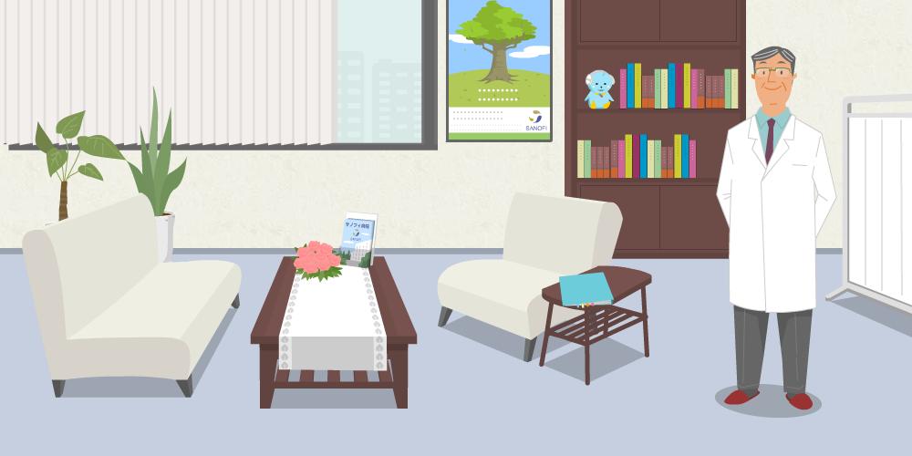 医療ポータルサイトアニメーション用イラスト